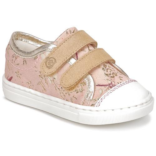 Chaussures Fille Baskets basses Citrouille et Compagnie JORDANIA Rose / Doré