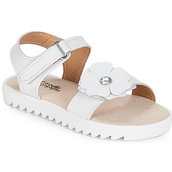 Chaussures Fille Sandales et Nu-pieds Citrouille et Compagnie ILODO Blanc