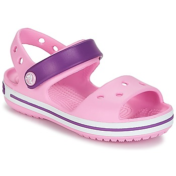 Chaussures Fille Sandales et Nu-pieds Crocs CROCBAND SANDAL Carnation Pink / Purple