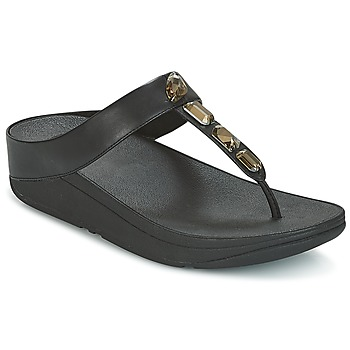 Chaussures Femme Tongs FitFlop ROKA TOE-THONG SANDALS Noir