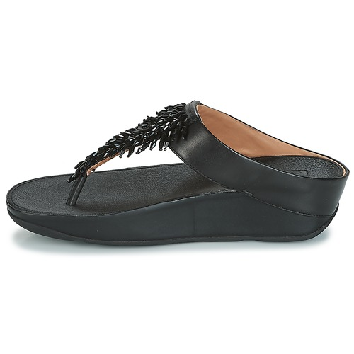 FitFlop CHA-CHA TOE-THONG SANDALS CRYSTAL Noir