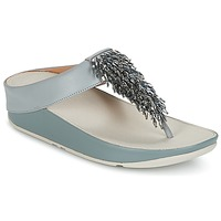 Chaussures Femme Tongs FitFlop CHA-CHA TOE-THONG SANDALS CRYSTAL Bleu