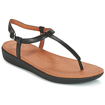 Chaussures Femme Tongs FitFlop TIA TOE THONG SANDALS Noir