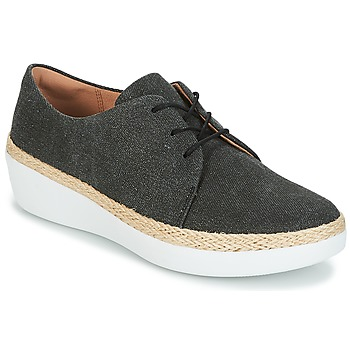 Chaussures Femme Baskets basses FitFlop SUPERDERBY LACE UP SHOES Noir