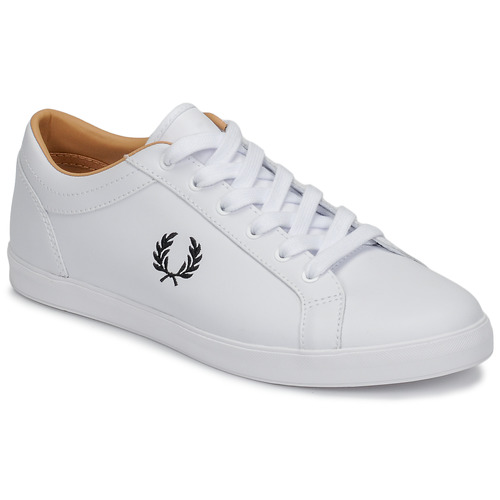 Fred Perry BASELINE LEATHER Blanc