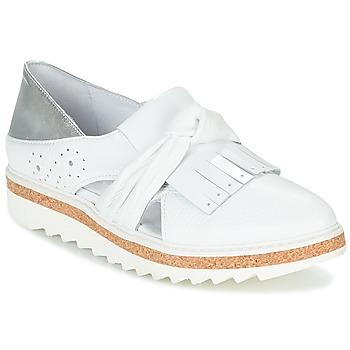 Chaussures Femme Mocassins Regard RASTAFA Blanc / Argenté