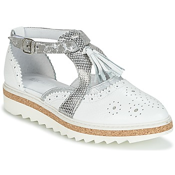Chaussures Femme Derbies Regard RASTANU Blanc / Argent