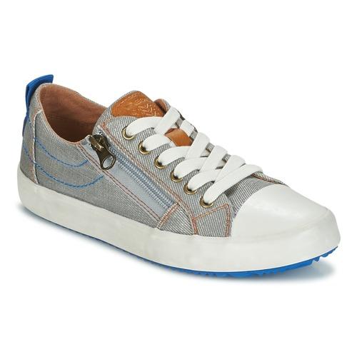 Chaussures Garçon Baskets basses Geox J ALONISSO B. D Gris / Bleu