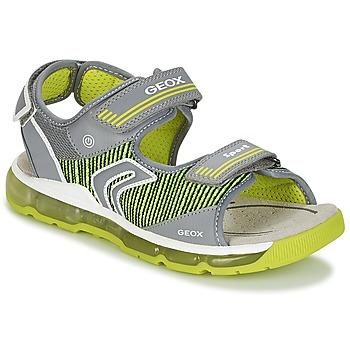 Chaussures Garçon Sandales sport Geox J S.ANDROID B.A Gris / Vert