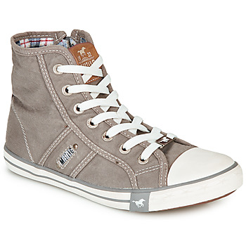 Chaussures Femme Baskets montantes Mustang GALLEGO Gris argenté
