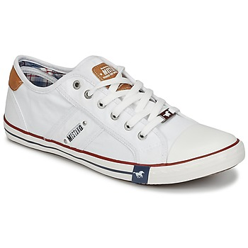 Chaussures Homme Baskets basses Mustang TIRON Blanc