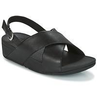 Chaussures Femme Sandales et Nu-pieds FitFlop LULU CROSS BACK-STRAP SANDALS - LEATHER Black
