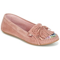 Chaussures Femme Mocassins Ippon Vintage MOC-WAX-ROSE Rose