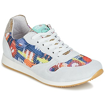 Chaussures Femme Baskets basses Ippon Vintage RUN-SEVENTY Blanc / Multicolore / Doré