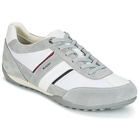 Chaussures Homme Baskets basses Geox U WELLS C Blanc / Gris