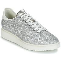 Chaussures Femme Baskets basses Geox D THYMAR C Argenté / Blanc