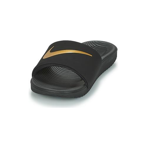 Nike KAWA GROUNDSCHOOL SLIDE Noir / Doré
