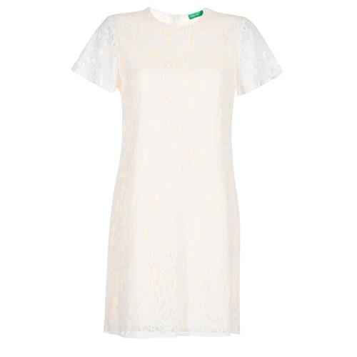 Vêtements Femme Robes courtes Benetton PRISTOUC Blanc