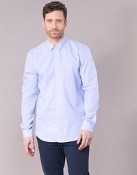 Vêtements Homme Chemises manches longues Sisley KELAPSET Bleu Clair