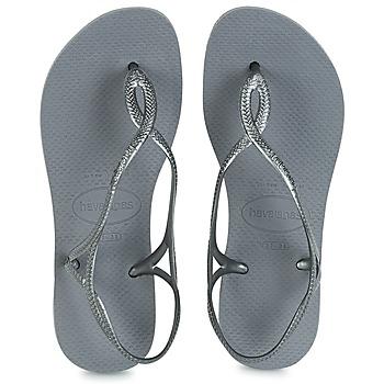 Chaussures Femme Tongs Havaianas LUNA Argenté