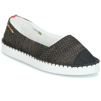 Chaussures Femme Espadrilles Havaianas ORIGINE FLATFORM UP Noir