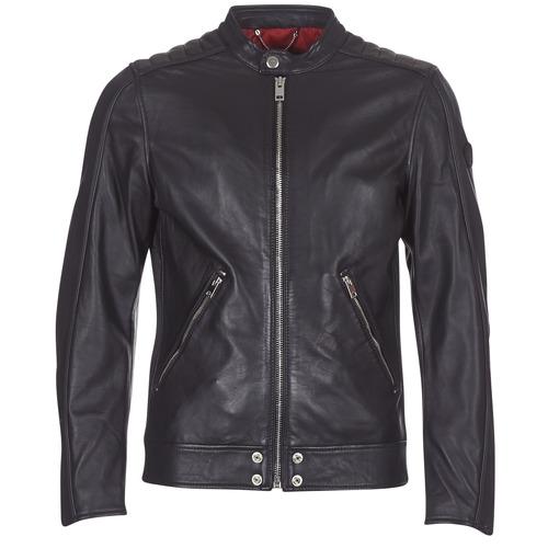 Vêtements Homme Vestes en cuir / synthétiques Diesel L SQUAD Noir