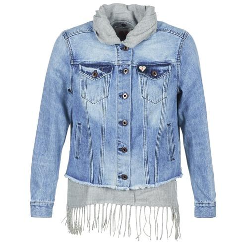 Vêtements Femme Vestes en jean Maison Scotch XAOUDE Bleu Clair / Gris