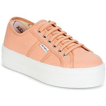 Chaussures Femme Baskets basses Victoria BLUCHER LONA PLATAFORMA Orange