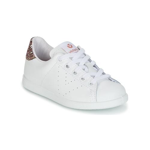 Chaussures Enfant Baskets basses Victoria DEPORTIVO BASKET PIEL KID Blanc