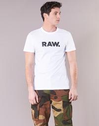 Vêtements Homme T-shirts manches courtes G-Star Raw HOLORN R T S/S Blanc