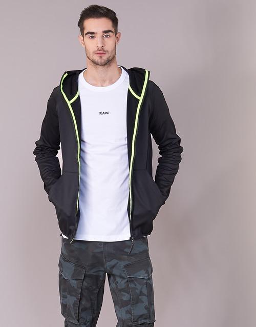 Vêtements Homme Sweats G-Star Raw STRETT SLIM HOODED ZIP THRU SW L/S Noir