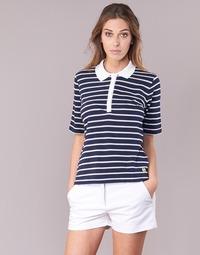 Vêtements Femme Polos manches courtes Armor Lux POLAED Marine / Blanc