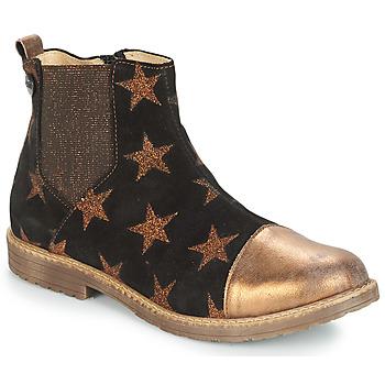 Chaussures Fille Boots GBB LEONTINA Noir / Bronze
