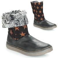 Chaussures Fille Bottes ville Achile DUBROVNIK Noir / Cuivre