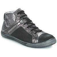Chaussures Fille Baskets montantes GBB KAMI Noir / Argenté