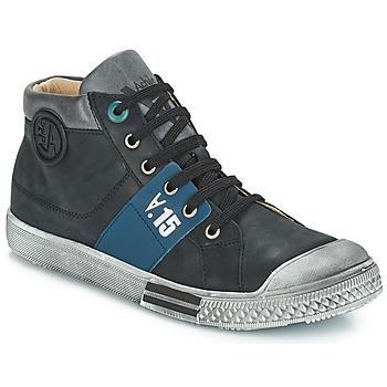 Chaussures Garçon Bottes ville GBB RUFINO VTU NOIR DPF/LUCKY