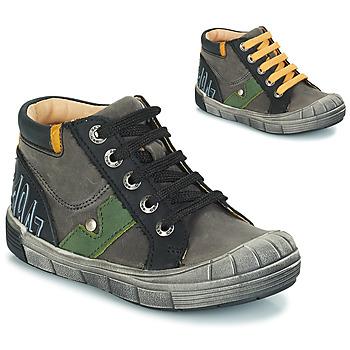 Chaussures Garçon Bottes ville GBB REINOLD NUV GRIS-NOIR DPF/2831