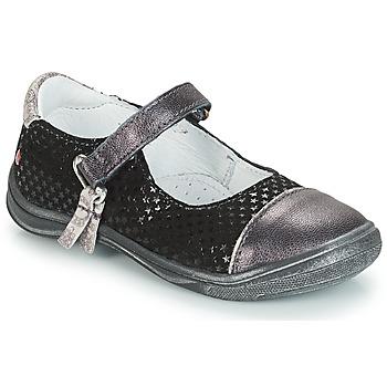 Chaussures Fille Ballerines / babies GBB RIKA Gris / Noir
