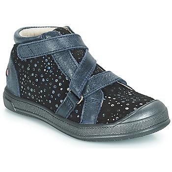 Chaussures Fille Baskets montantes GBB NADEGE Bleu / Noir