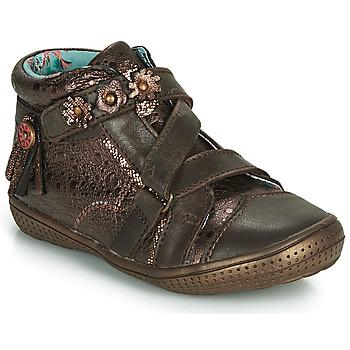 Chaussures Fille Boots Catimini ROQUETTE Marron / Doré