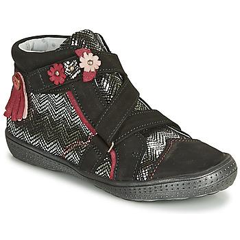 Chaussures Fille Boots Catimini ROQUETTE CTV NOIR-ARGENT DPF/2852