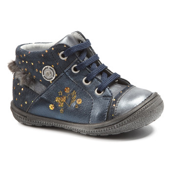 Chaussures Fille Boots Catimini RIKI VTC MARINE-POIS OR DPF/2822