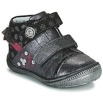 Chaussures Fille Boots Catimini ROSSIGNOL Gris / Argenté