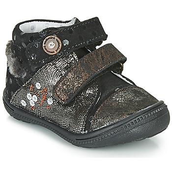 Chaussures Fille Boots Catimini ROSSIGNOL Noir / Doré