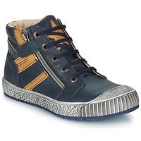 Chaussures Garçon Baskets montantes Catimini RAMBOUTAN Marine / Ocre