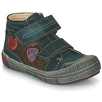 Chaussures Garçon Boots Catimini ROMARIN Vert / Marron