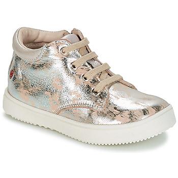 Chaussures Fille Baskets montantes GBB SACHA Beige / Argent