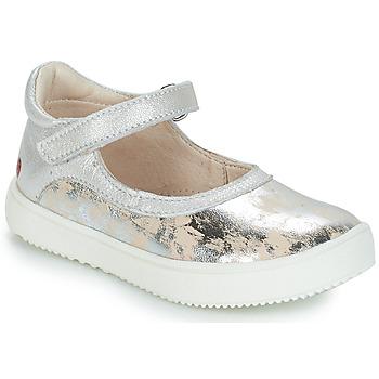 Chaussures Fille Ballerines / babies GBB SAKURA Argenté / Beige