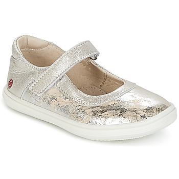 Chaussures Fille Ballerines / babies GBB PLACIDA VTE BEIGE-ARGENT DPF/CUBA