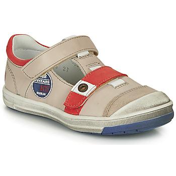 Chaussures Garçon Boots GBB SCOTT VTC BEIGE-ROUGE DPF/FLASH